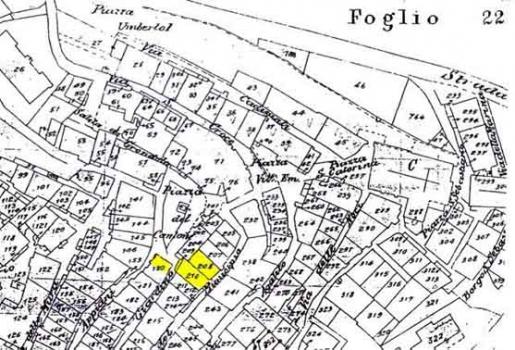 Mappa catastale Giardino