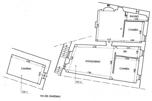 Planimetria appartamento Giardino