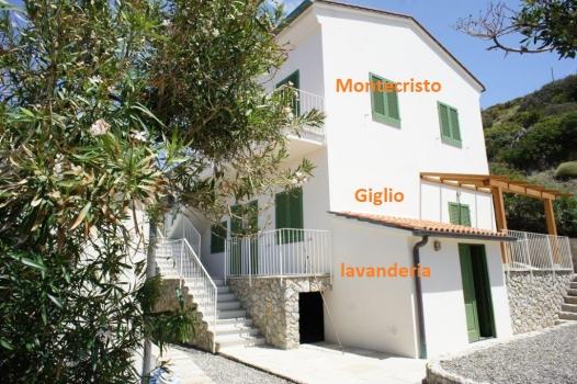 IL QUARTIERE con gli appartamenti MONTECRISTO e GIGLIO e lavanderia