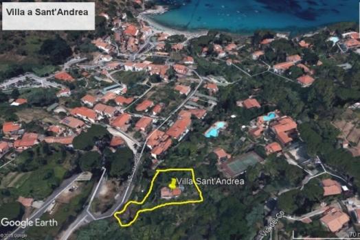 Villa a Sant'Andrea posizione google earth con terreno