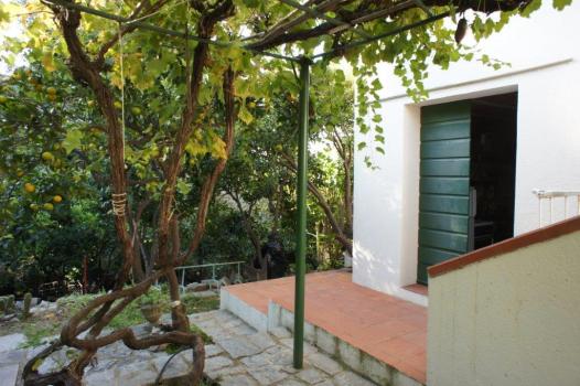 giardino e ingresso seminterrato