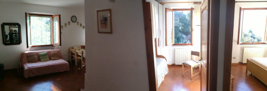 panoramica soggiorno e camere