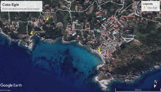 foto satellitare Casa Egle con Cotoncello e Sant'Andrea