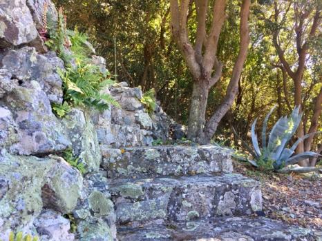 10 terrazzamenti - dettaglio scale di granito