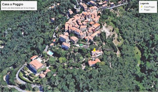satellitare Poggio con la casa