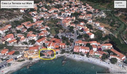 foto satellitare Casa Le Terrazze a Pomonte